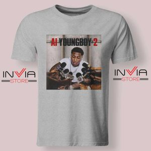 AI Youngboy 2 Tshirt Grey