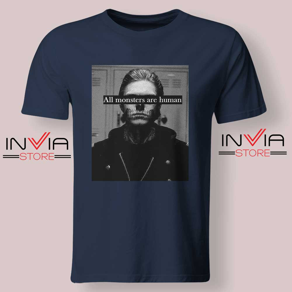 All Monster Are Human Tshirt Navy