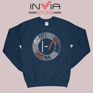 Art Blurryface 21 Pilots Sweatshirt Navy