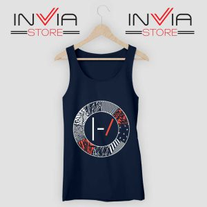 Art Blurryface 21 Pilots Tank Top Navy