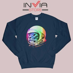 Astronaut Space Cat Sweatshirt Navy