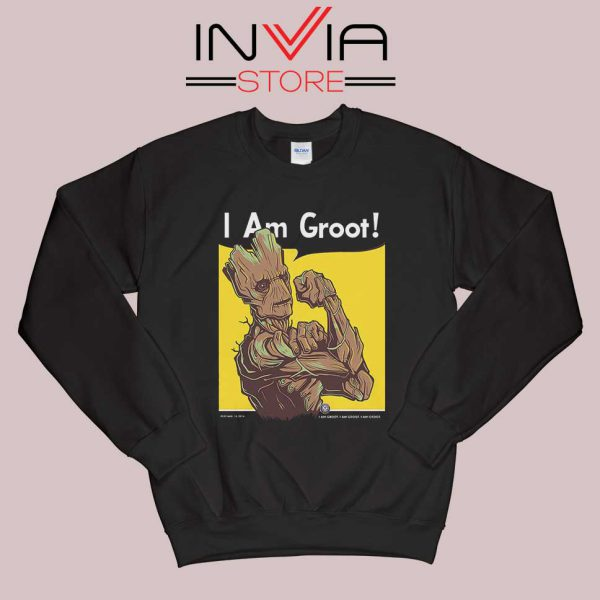 Best Groot Quotes Sweatshirt Black