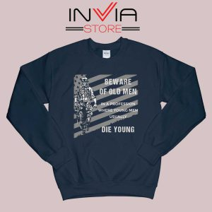 Beware of old Men Sweatshirt Navy