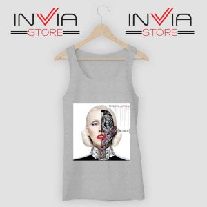 Bionic Album Christina Aguilera Tank Top Grey