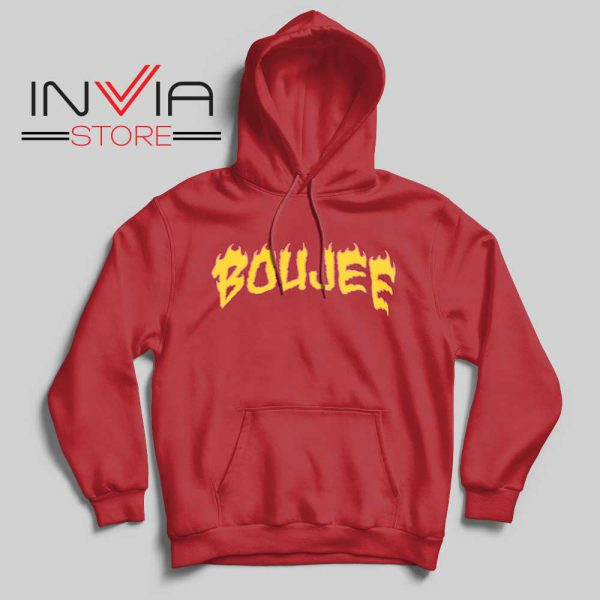 Boujee Fire Hoodie Red