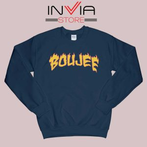 Boujee Fire Sweatshirt Navy