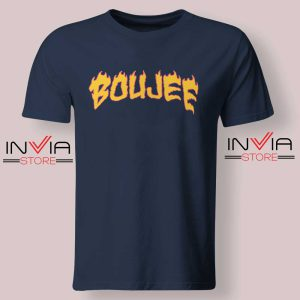 Boujee Fire Tshirt Navy