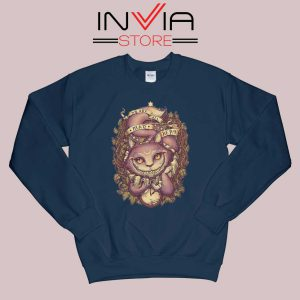 Cheshire Cat Art Relax Sweatshirt Navy