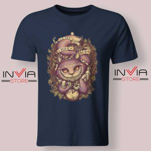Cheshire Cat Art Relax Tshirt Navy
