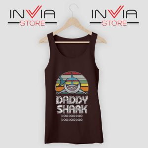 Daddy Shark Doo Doo Doo Retro Tank Top