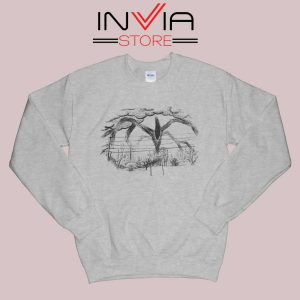 Drawing Stranger Things Monster Sweatshirt Grey