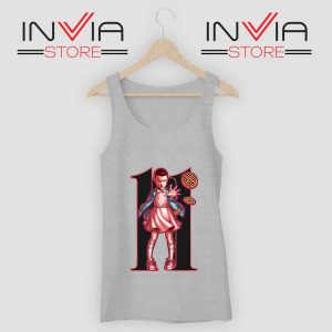 Eleven Sharacter Stranger Tank Top Grey