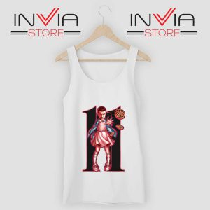 Eleven Sharacter Stranger Tank Top White