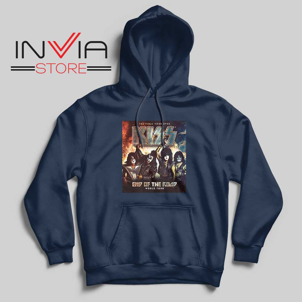 End of the Road Tour World Hoodie Navy