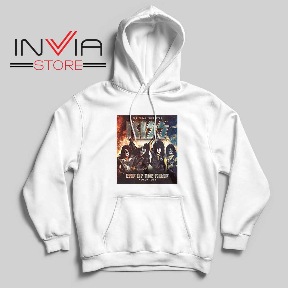 End of the Road Tour World Hoodie White