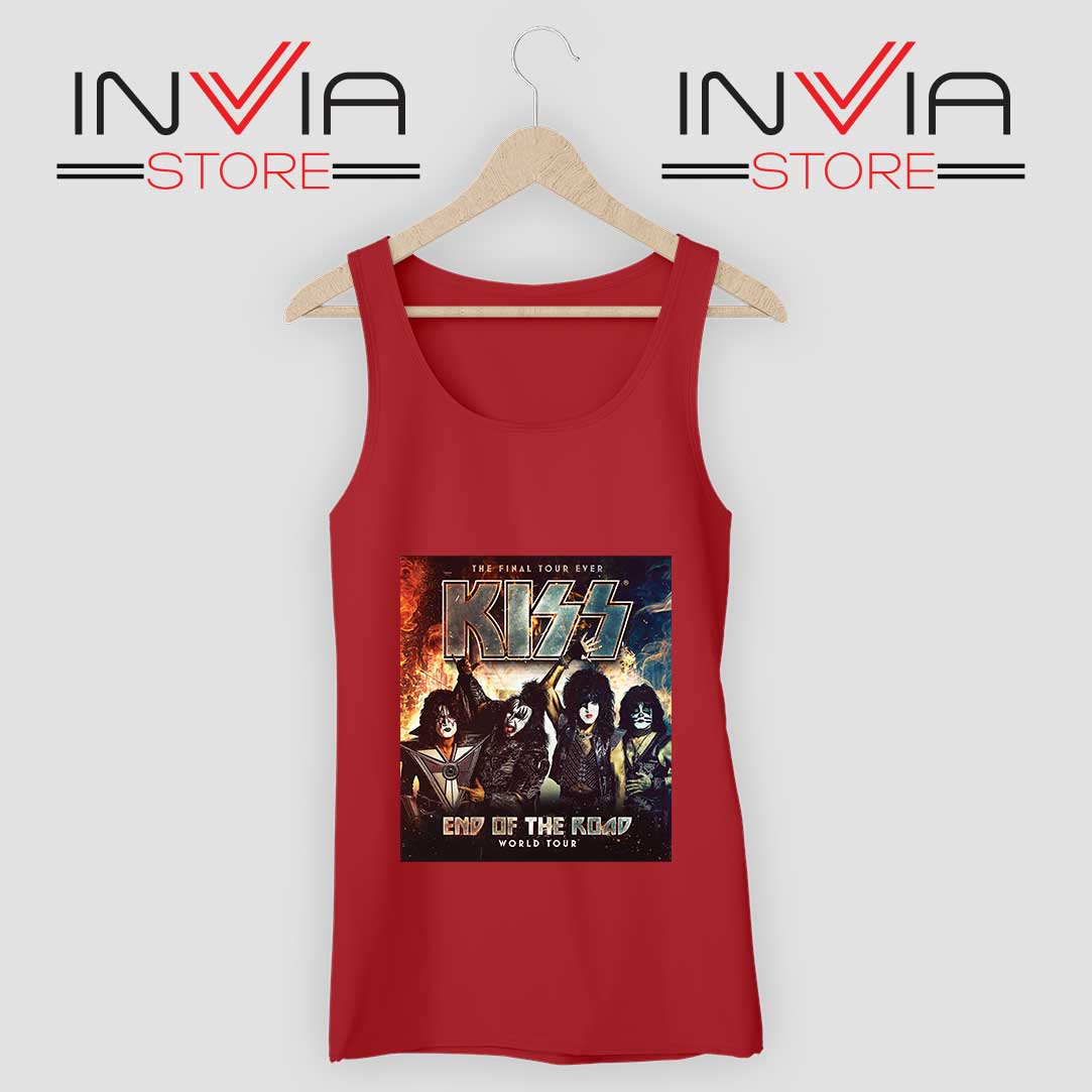 End of the Road Tour World Tank Top Red