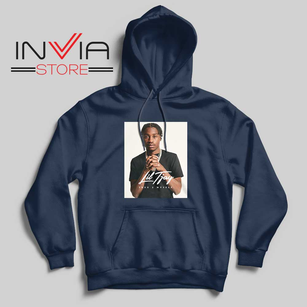 Fiveya New Lil True 2 to Myself Hoodie Navy