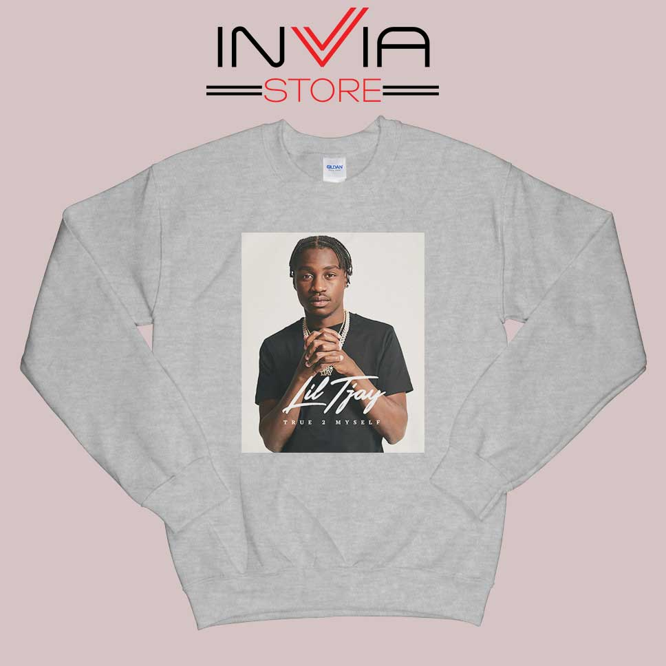Fiveya New Lil True 2 to Myself Sweatshirt Grey