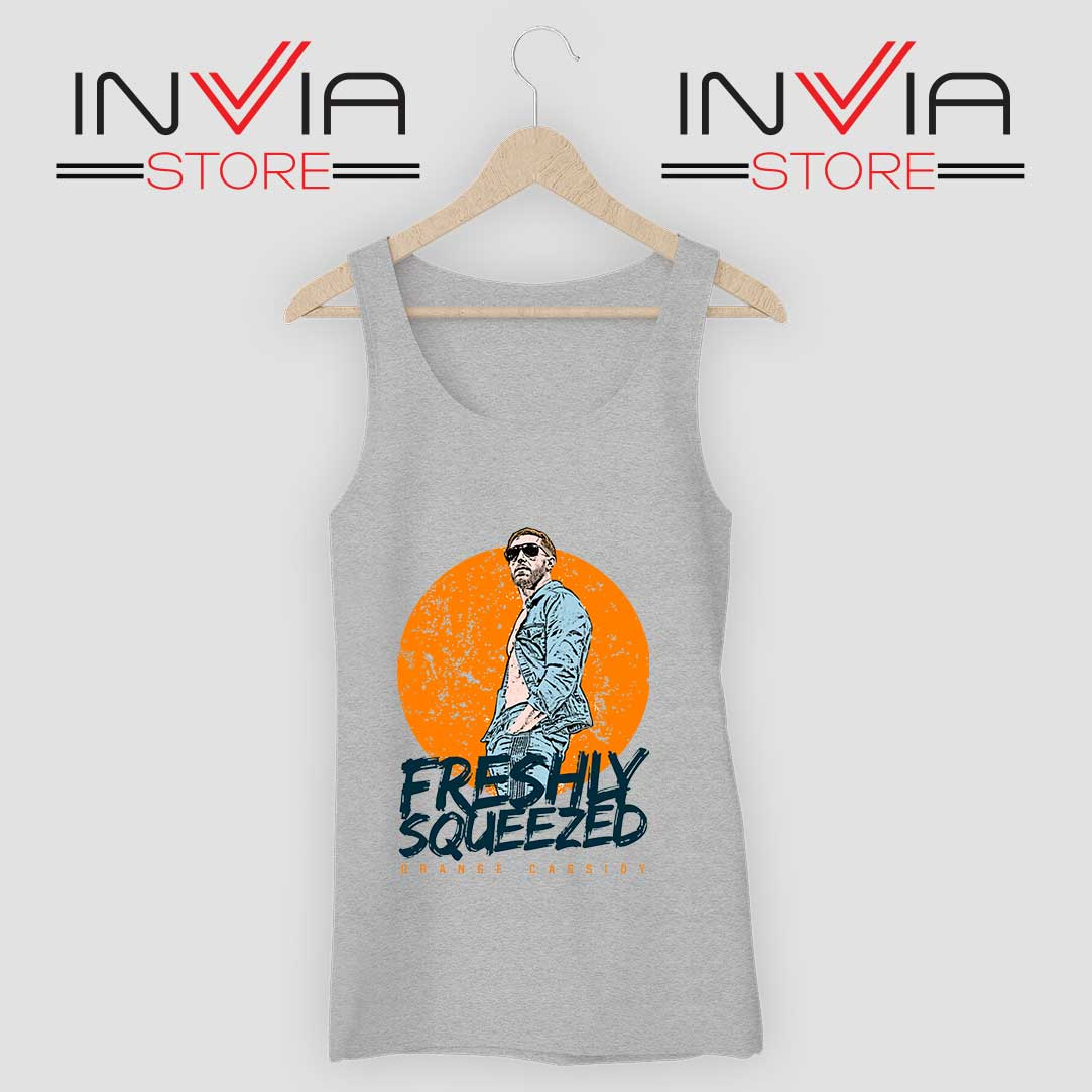 Freshly Squeezed Orange Cassidy Tank Top Grey
