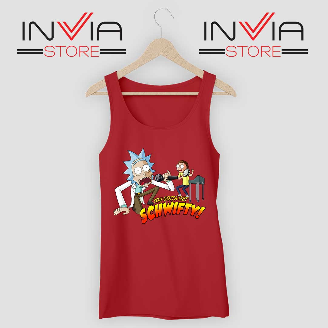 Get Schwifty Music Rick Tank Top Red