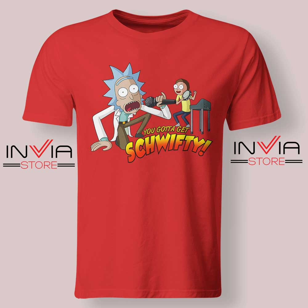 Get Schwifty Music Rick Tshirt Red