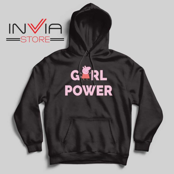 Girl Power Peppa Pig Hoodie Black