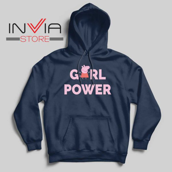 Girl Power Peppa Pig Hoodie Navy