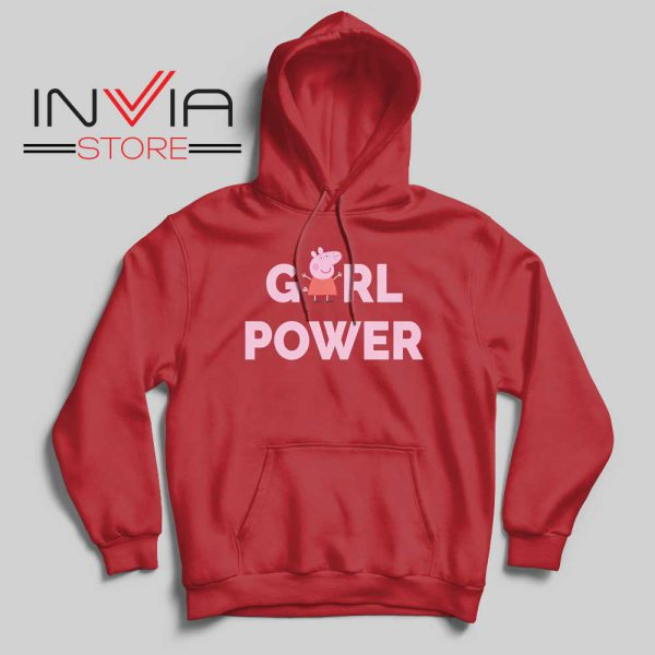 Girl Power Peppa Pig Hoodie Red