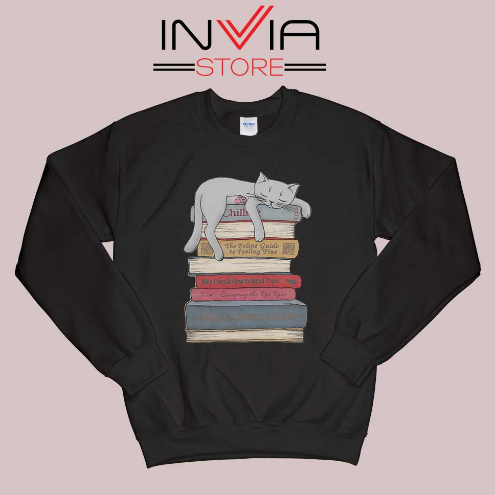 How to Chill Like a Cat Sweatshirt Black