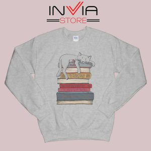 How to Chill Like a Cat Sweatshirt Grey