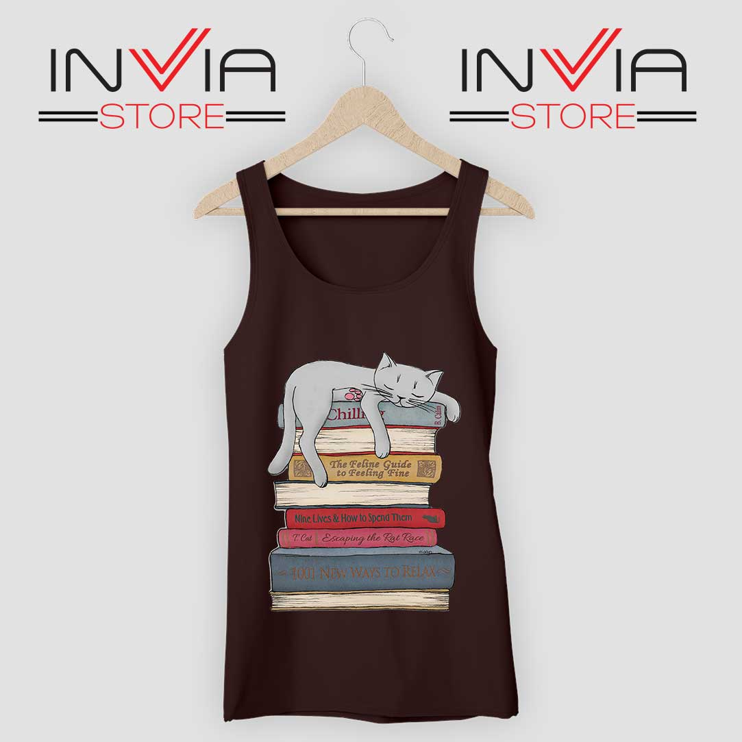 How to Chill Like a Cat Tank Top Black