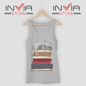 How to Chill Like a Cat Tank Top Grey
