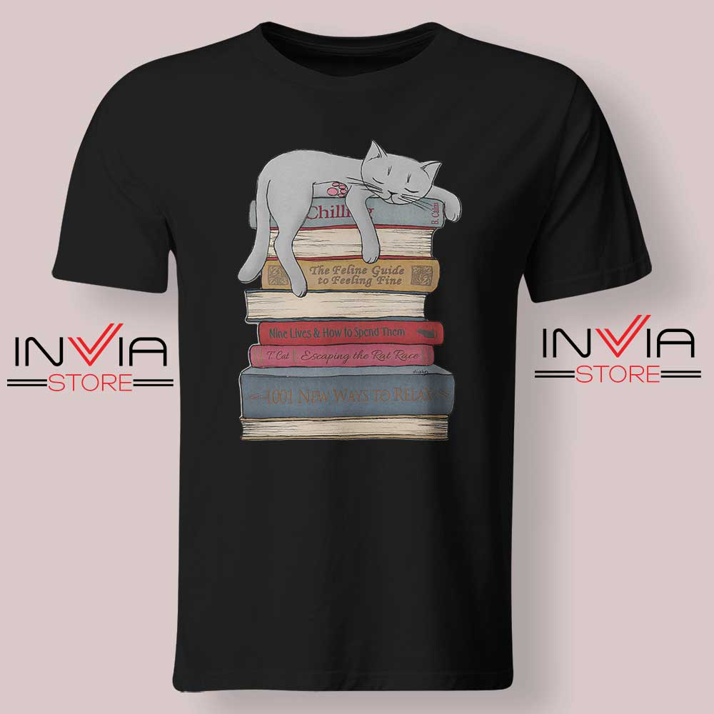 How to Chill Like a Cat Tshirt Black