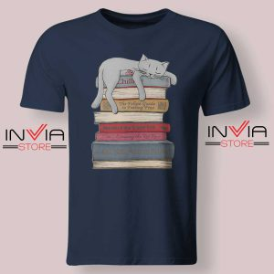 How to Chill Like a Cat Tshirt Navy