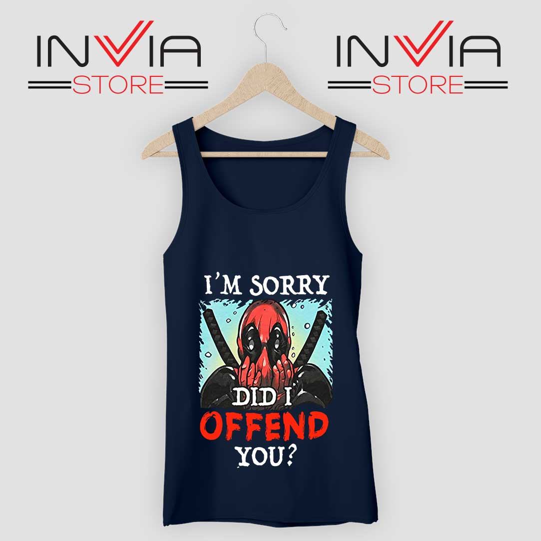 Im Sorry Did I Offend You Tank Top Navy