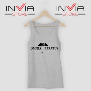 In Omnia Paratus Tank Top Grey