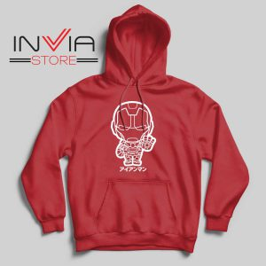 Iron Man Japanese Chibi Hoodie Red