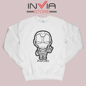 Iron Man Japanese Chibi Sweatshirt White