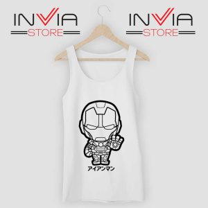 Iron Man Japanese Chibi Tank Top White