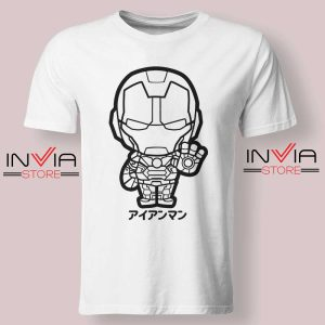 Iron Man Japanese Chibi Tshirt White