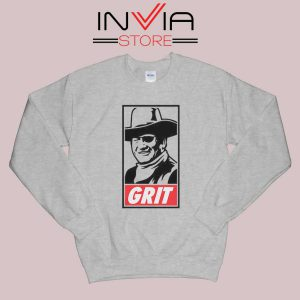 John Wayne True Grit Sweatshirt Grey