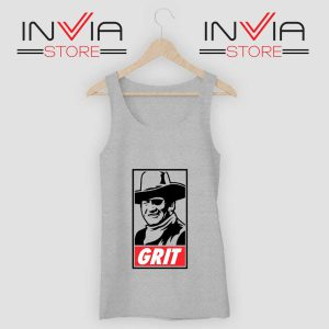 John Wayne True Grit Tank Top Grey