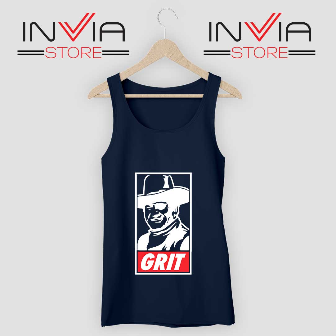 John Wayne True Grit Tank Top Navy
