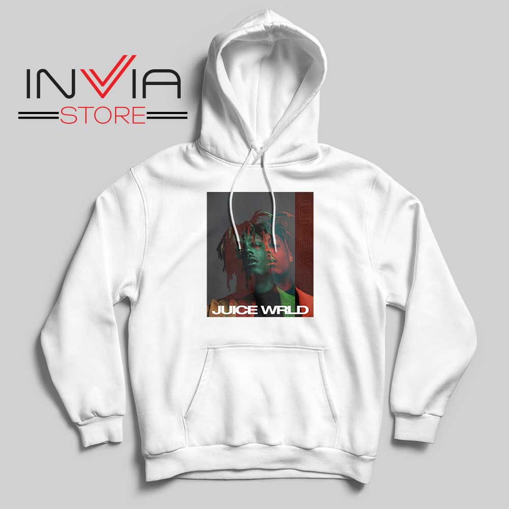 Juice Wrld 999 Poster Hoodie White