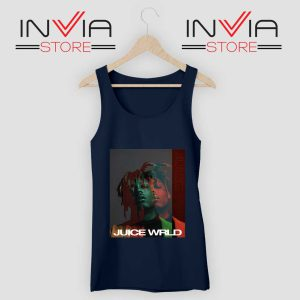 Juice Wrld 999 Poster Tank Top Navy