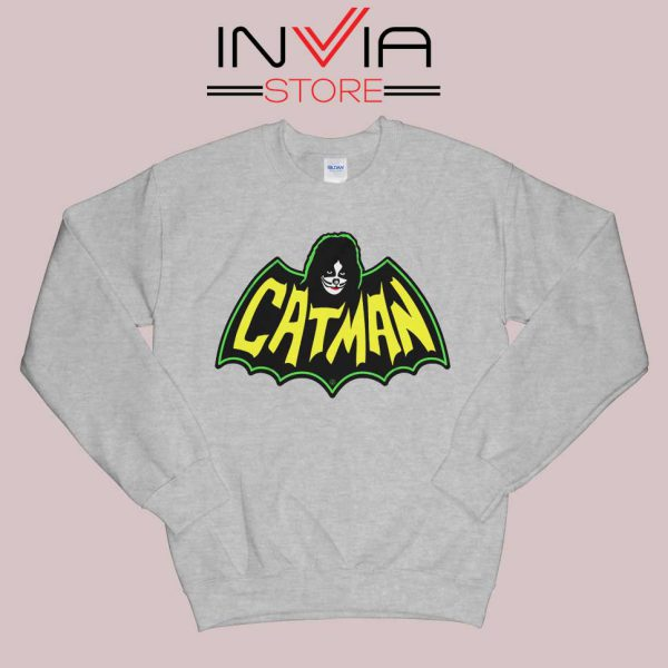 Kiss Drummer Catman Sweatshirt Grey