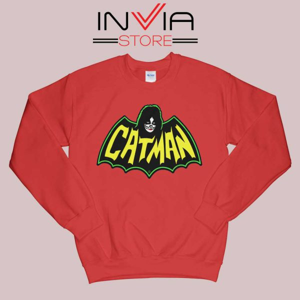 Kiss Drummer Catman Sweatshirt Red