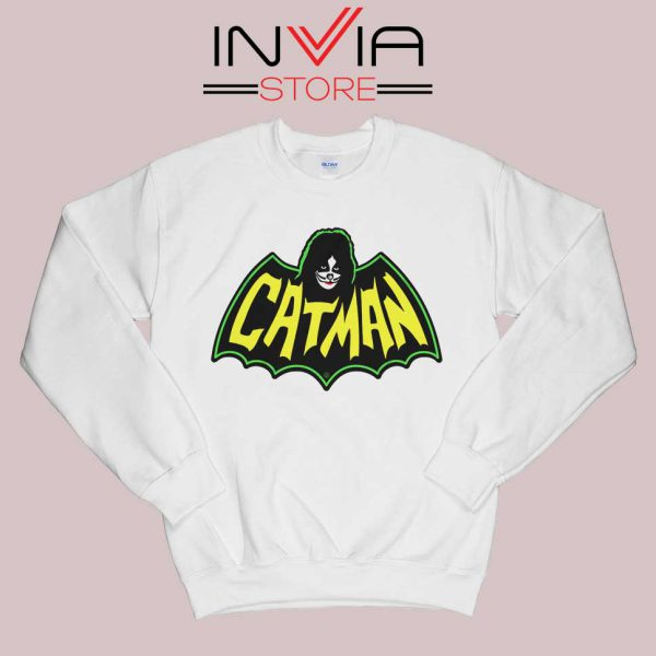 Kiss Drummer Catman Sweatshirt White