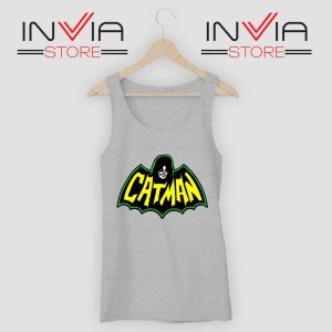 Kiss Drummer Catman Tank Top Grey