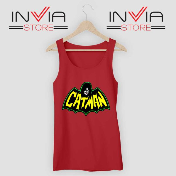Kiss Drummer Catman Tank Top Red